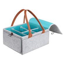 1 шт. детские пеленки Caddy Органайзер складная корзина для хранения для пеленального стола Сумка-тоут переносная корзина для хранения в автомобиле