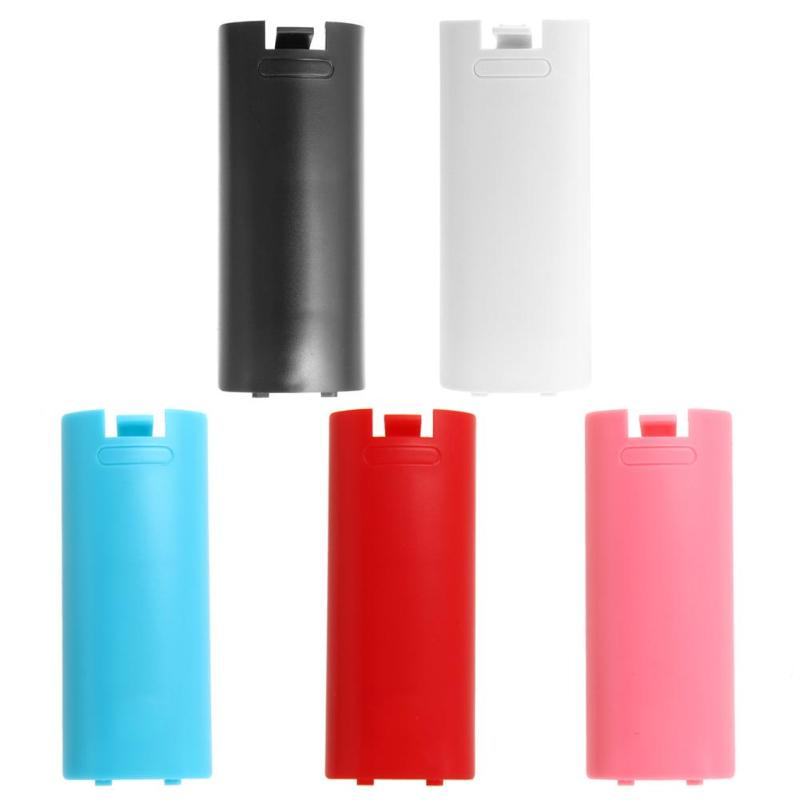 For Nintendo Wii White/Black/Blue/Red/Pink Battery Cover Case Back For Nintendo Wii Remote Controller Hot