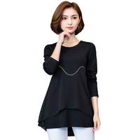 Spring Casual Blouses Long Sleeve O neck Solid Vintage Shirt Autumn New Fashion Women Tops And Blouse Plus Size 5XL
