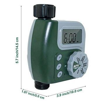 Novo eletrônico de água da torneira temporizador diy unidade controle irrigação jardim digital led temporizador água