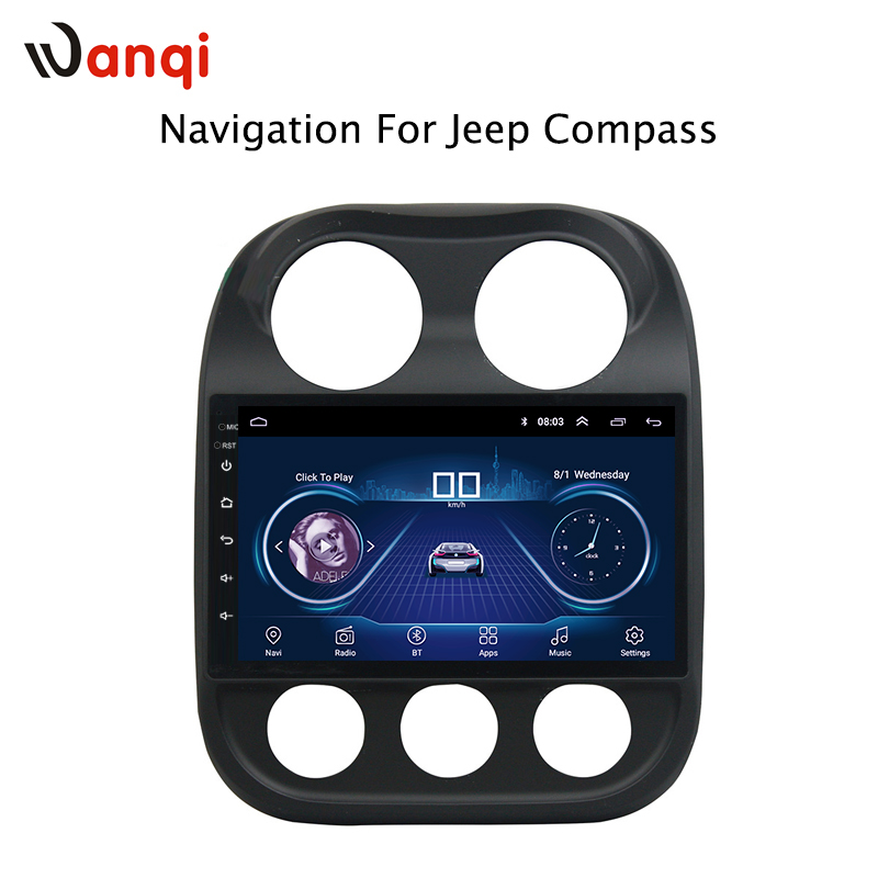 10.1 inch Android 8.1 for Jeep Compass 2010-2016 Car DVD GPS Navigation Radio Audio Video Multimedia System