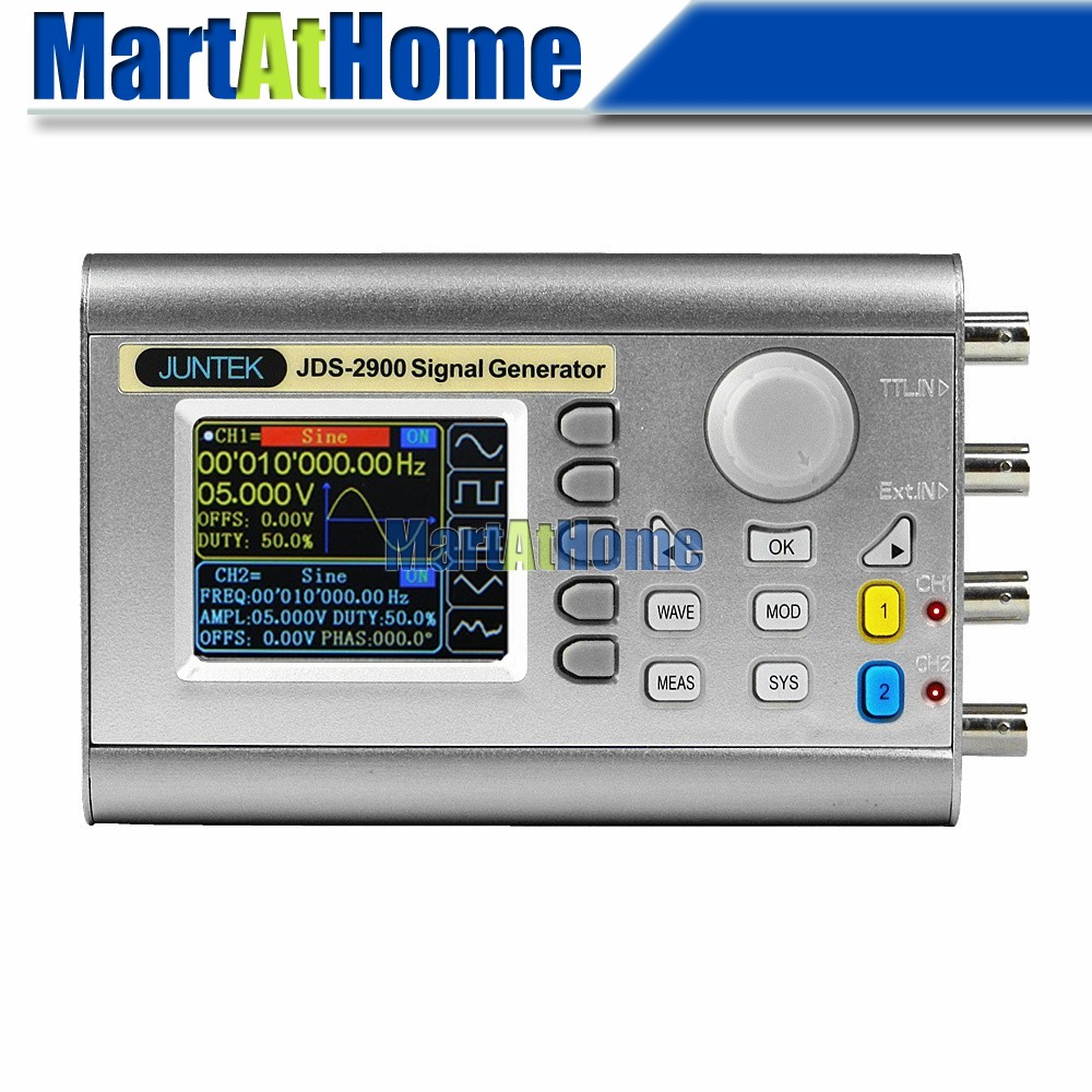 "Argedo Digital Dual channel DDS Signal Generator Function Arbitrary Waveform 40MHz Waveform Sampling Rate 266MSa/s 1mVpp 2.4""LCD