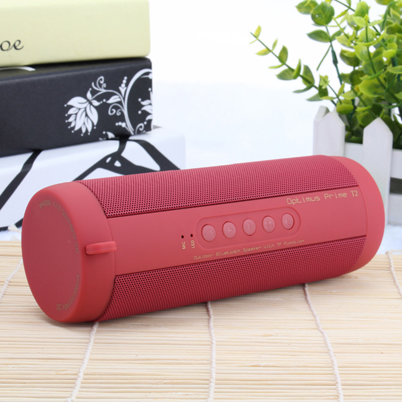 T2 Bluetooth Music Bass Speaker Waterproof Portable Outdoor LED Wireless Column Loudspeaker Support TF Card FM Radio Aux InputT2 Bluetooth Music Bass Speaker Waterproof Portable Outdoor LED Wireless Column Loudspeaker Support TF Card FM Radio Aux Input