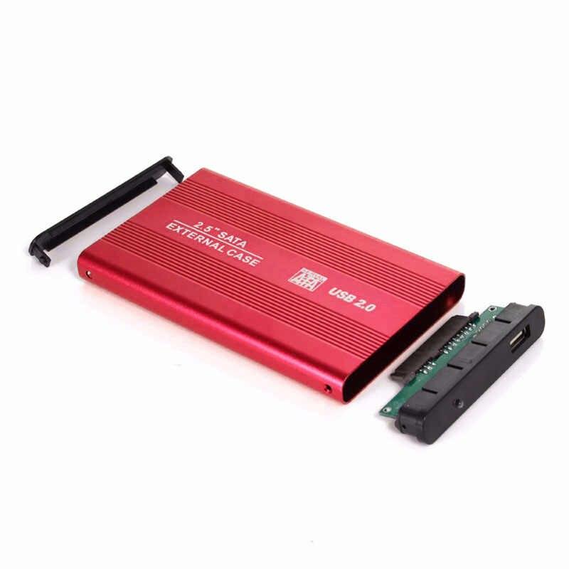 """4 ألوان 2.5 """"USB 2.0 SATA HD صندوق 1 تيرا بايت HDD القرص الصلب غلاف خارجي حافظة دعم ما يصل إلى 3 تيرا بايت نقل البيانات أداة احتياطية للكمبيوتر"""