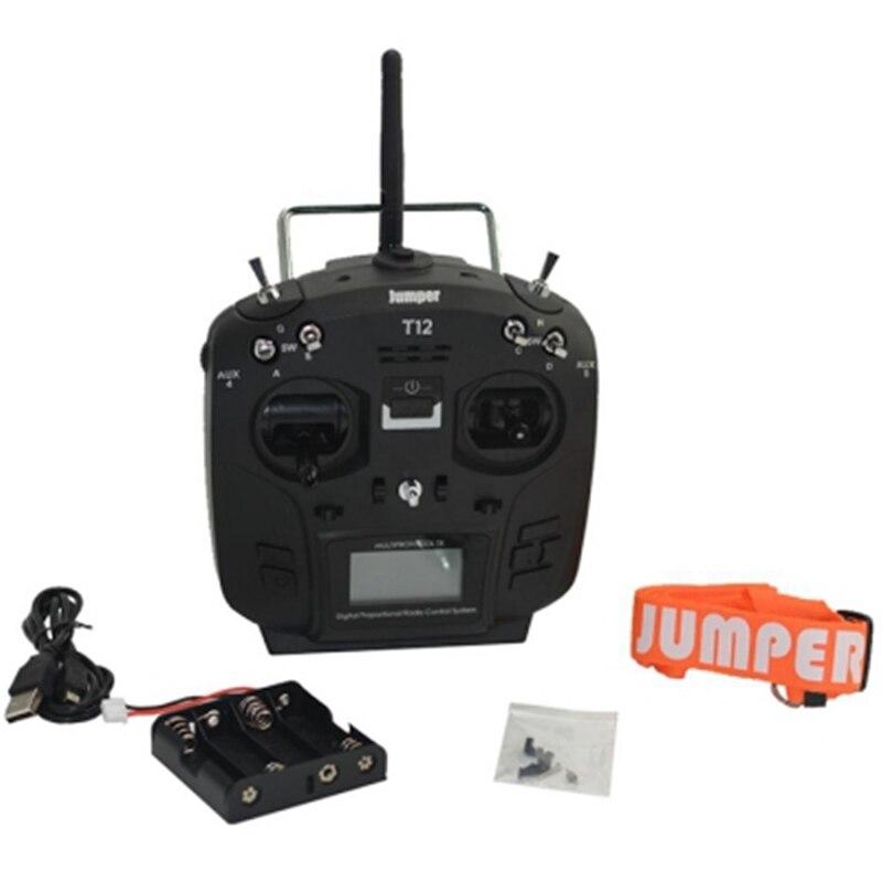 Jumper T12 Plus Multi-Protocolo de Rádio Transmissor W/JP4-In-1 RF Módulo Sensor Hall Cardan Preto 1.7 Polegada LCD sensor De SALÃO Cardan