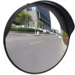 Vidaxl выпуклая дорожное зеркало PC пластик черный 30 см открытый выпуклое зеркало предотвращает неожиданные несчастные случаи дорожное