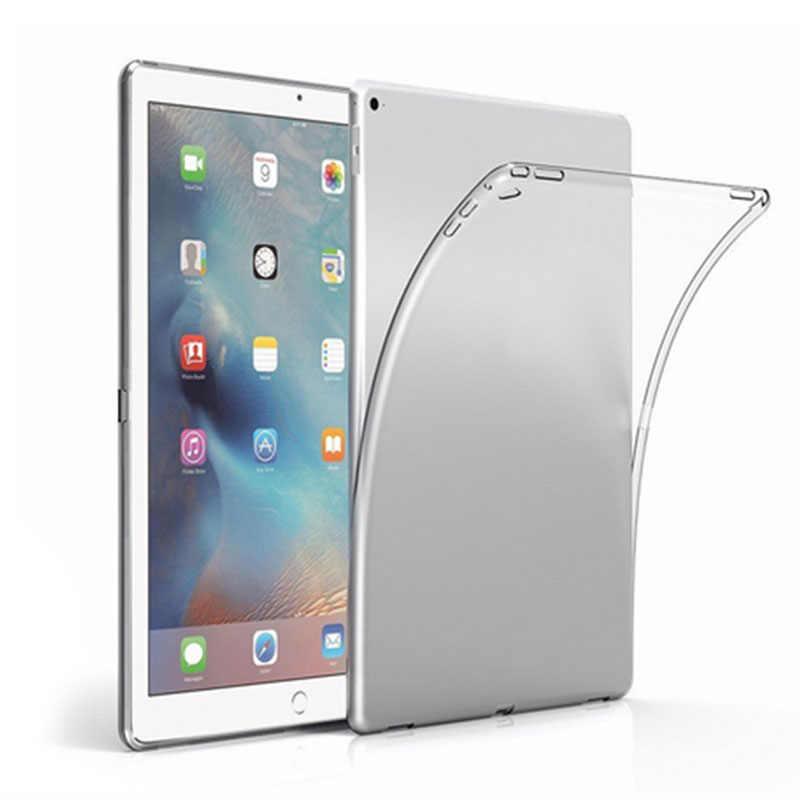 حافظة من السيليكون لجهاز iPad 9.7 2017 2018 Mini 1 2 3 4 حافظة شفافة ناعمة من البولي يوريثان حافظة لجهاز iPad 2 3 4 5 6 Air 1 2