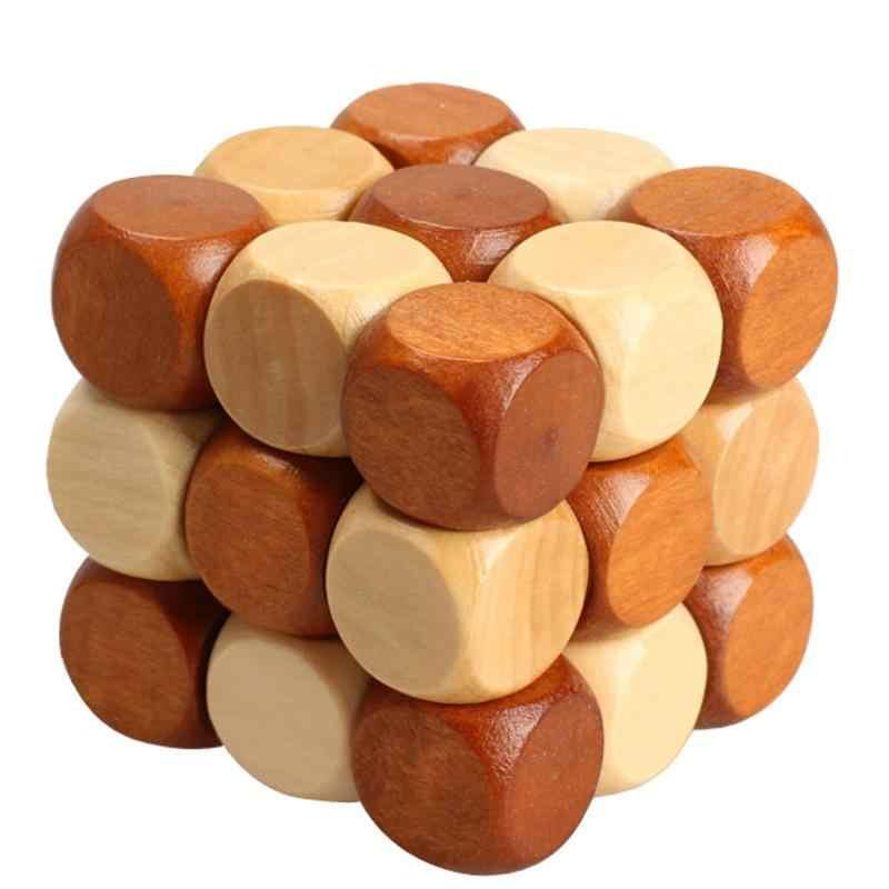 Dla dzieci drewniane Puzzle kwadratowa zabawka smok ogon styl z drewna gumowego Puzzle blokada zabawki dla dzieci inteligencja rozwoju zabawki edukacyjne
