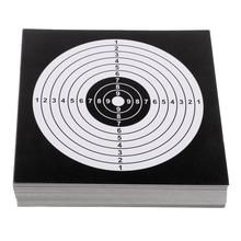 100 шт 14 см Толстые карты цели Бумажная Мишень стрельба из лука принадлежности для охоты