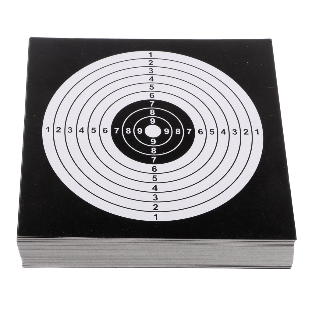 100Pcs 14cm Thick Card Targets Paper Target Shooting Archery Hunting Accessories