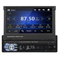 1 DIN 7 Inch Car Auto MP5 Player AM FM Radio GPS Navigation Touch Screen USB Bluetooth Receiver
