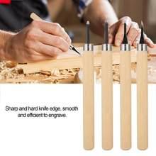 4 adet/paket ahşap DIY oyma bıçağı manuel kalemtıraş lastik damga bıçakları oyma araçları seti
