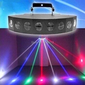 RGBW HA CONDOTTO Fascio di Luce Dello Scanner, 8X10 W LED di Scansione Luci di Effetto di Fase, DMX Mini LED Spider Luce, DJ Scansione Fascio Effetto Della Discoteca di Illuminazione