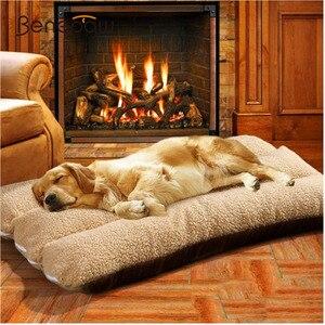 Image 1 - Benepaw lits épais pour animaux domestiques, lavable, doux, doux et grands chiots et chiots, maison, amovible, chaude, transat de luxe, pour lhiver