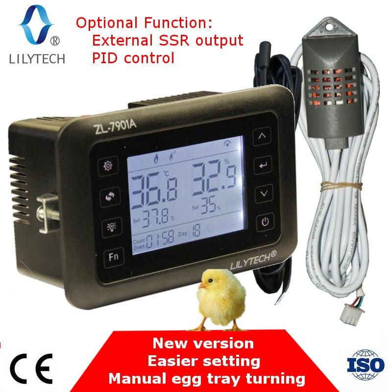 ZL-7901A, 100-240Vac, PID, Multifonctionnel couveuse automatique, Incubateur Contrôleur, Température d'humidité pour incubateur, Lilytech