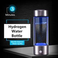 Portable Water Bottle Ionizer Hydrogens Generator For H2 Rich Hydrogens Water Bottle Ionizer 450ML USB Electrolysis Hidrogen
