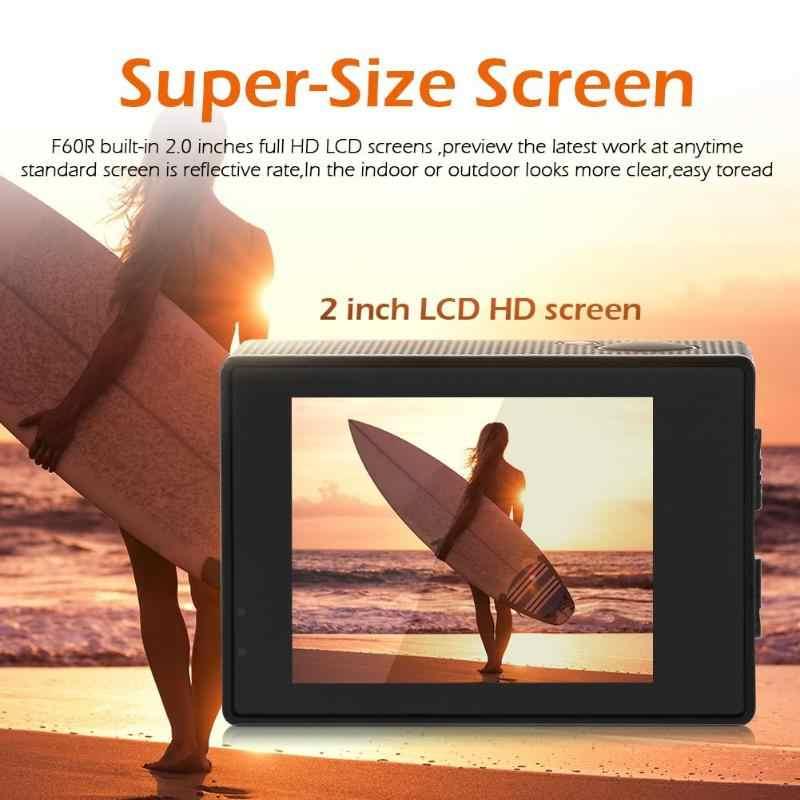 F60R 4 K 30fps wifi Экшн-камера 1080 P HD 16MP шлем Cam 30 м водонепроницаемый 170 градусов широкоугольный объектив DV с пультом дистанционного управления