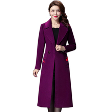 Women Autumn Winter Vintage Floral Embroidery Wool Long Sleeve Coat Female Outerwear Manteau Femme Plus Size 4XL floral trench coat women autumn and winter fashion runway plus size vintage royal embroidery lady woolen overcoat female m 4xl