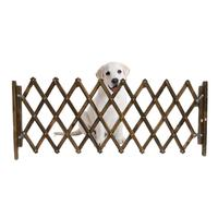 Carbonized Pet Gate Dog Fence Retractable Folding Cat Pet Dog Barrier Wooden Safety Gate Expanding Swing Puppy Stretchable Fence