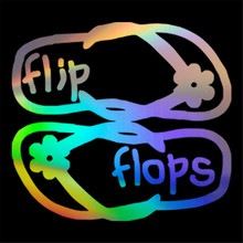 punctual Slippers Flops Flip Sticker Car Window Door Bumper Laptop Vinyl  Decal 7e596aa6c31d