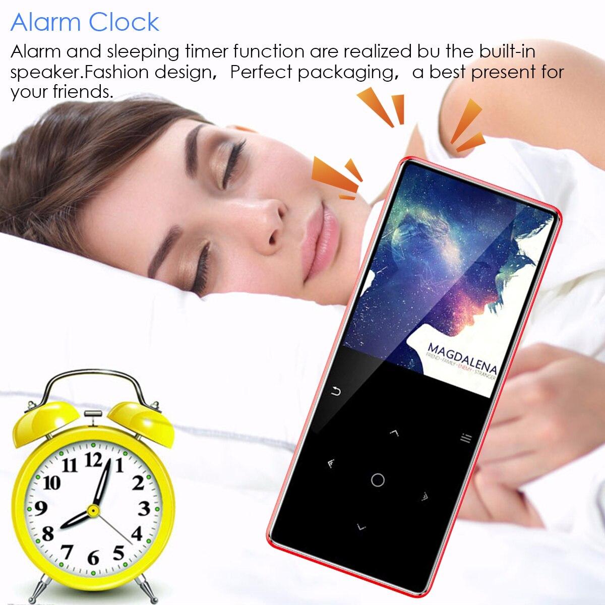 Lecteur MP3 Bluetooth de marque 8 GB lecteur multimédia de musique USB enregistreur vocal FM réveil E-book avec prise en charge casque carte TF - 5