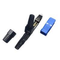 Wsfs quente 100 pçs/lote sc upc ftth fibra óptica sc conector sc/upc conector de fibra óptica sc upc conector rápido|Conectores| |  -