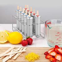 304 Stainless Steel Household Popsicle Mold Set Of 6/10 DIY Fruit Innovative Ice Tube Mold