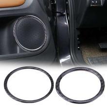 4 шт./6 шт. Авто рупорный громкоговоритель кольцо рама из углеродного волокна крышка отделочный стикер для BMW X5 X6 E70 E71 автомобиль для укладки аксессуары