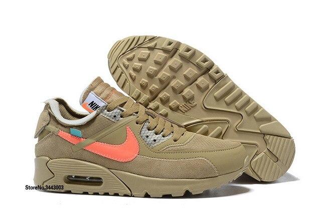 promo code e0d27 c8207 Nike Air Max 90 Suede Commune Blanc nouveauté Hommes chaussures de course,  mâle antichoc en