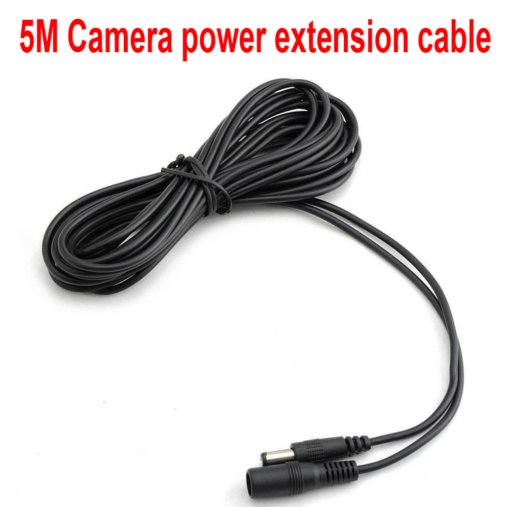 5M Camera Power Extension Cord 12V DC Power Cord 5.5*2.1mm Male Female Power Adapter Extension Cable CCTV Camera Extend Wire