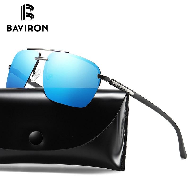 5ef1b7614e6 BAVIRON Square Polarized Sunglasses Men UV Protect Mirror Men s Polaroid  Sunglasses Driving Vintage Sun Glasses Male ...