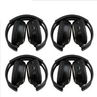 FULL HQ 4PCS IR Wireless Headphones Headsets for Car DVD Player L Flip Down&Headrest