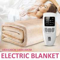 Household Security Electric Blanket Dual Heating Body Warmer Adjustable Controller Bed Heater Pad Winter Heated Mattress Carpet