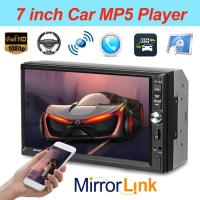 VODOOL 7 Inch Car Multimedia Player 2Din Car Stereo MP5 Player Bluetooth FM Radio Head Unit with Camera Support Remote Control