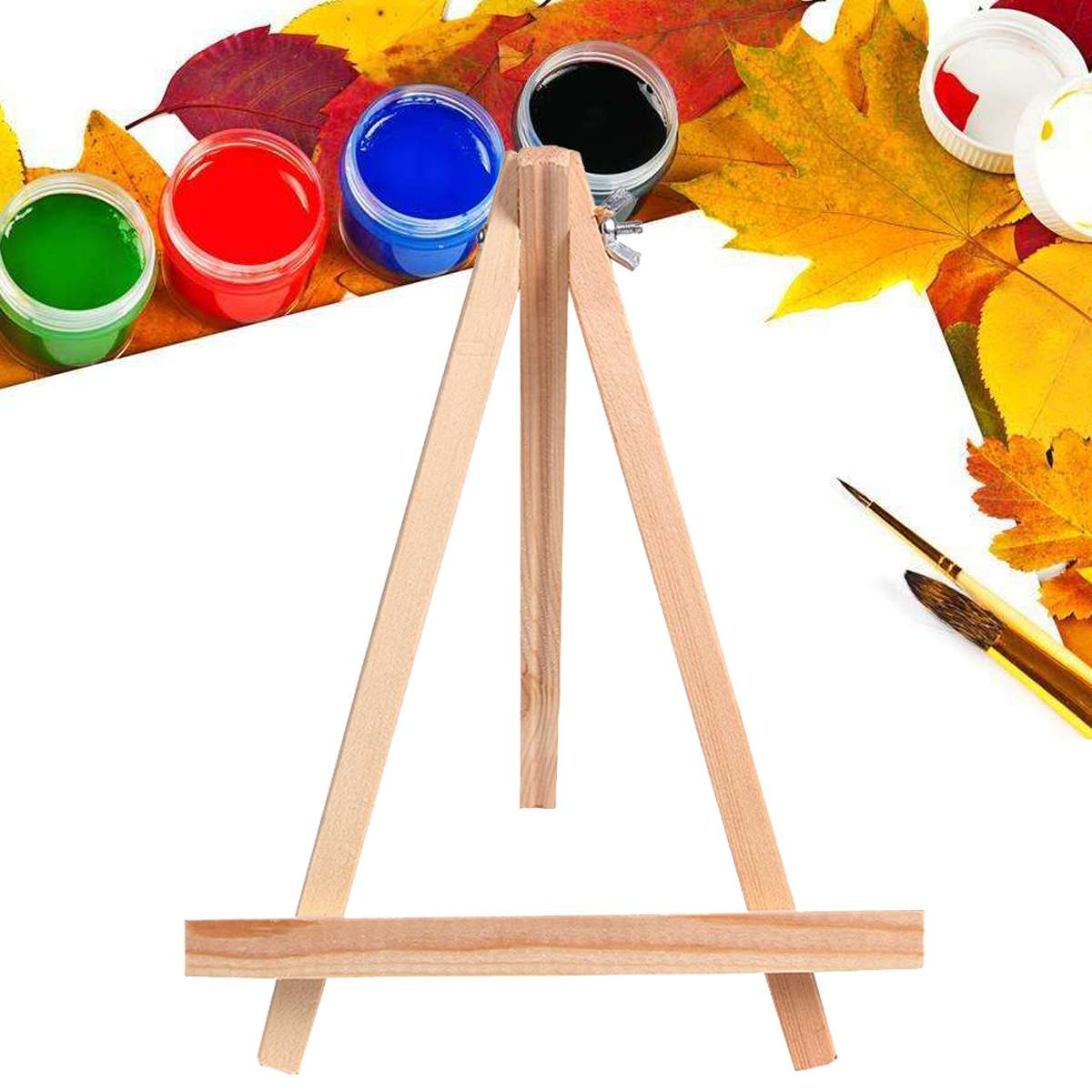 Wooden Art Timber Small Easels School Photo Painting Display Rack Stand Holder Wedding Table Card Holder Party Decoration 10pcs