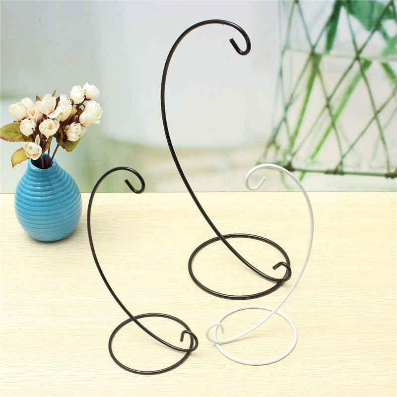KiWarm soporte de farol metálico Simple y moderno de hierro colgante candelabro de vidrio vela globo adornos en miniatura soporte