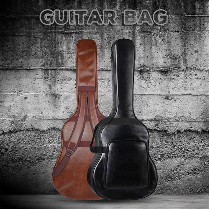 Fashion Waterproof Guitar Backpack Bag Thickened Musical Instrument Backpacks For 40 41 Inch Guitar Bag PU