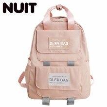 Women Nylon Backpack Bag Middle School Students Schoolbags University Campus Bags Waterproof Both Shoulders