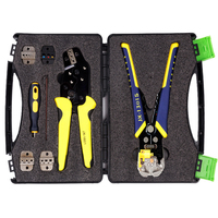 JX D5301 Manganese Steel Multifunctional Ratchet Crimping Tool Wire Strippers Terminals Pliers Kit Durable