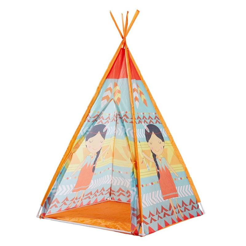 Kids Play Teepee Game House Tent Children House Outdoor Toy Playhouse Mat Boys Girl House GiftKids Play Teepee Game House Tent Children House Outdoor Toy Playhouse Mat Boys Girl House Gift