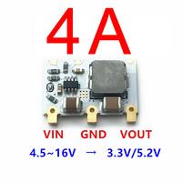DYKB 98% 4A Mini DC-DC Buck Converter 6V-16V 9V 12V to 5V 3.3V Step-down Power Voltage Regulator Module