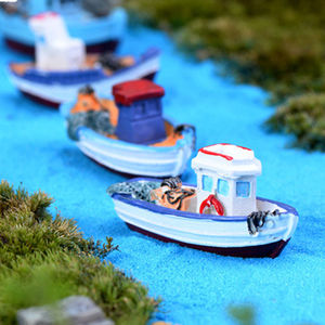 Мини Пляж Лодка кукольный домик фея сад фигурка/миниатюрный DIY ремесло орнамент микро пейзаж домашний декор принадлежности