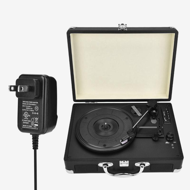 Antique vinyle lecteur de disque valise Portable tourne-disque lecteur pour LP 100-240 V Tocadiscos vinilo vintage prend en charge 33/45/RPM