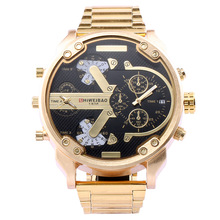 shiweibao brand mens Large dial watches quartz stainless steel man wristwatches DZ style man watch luxury creative watch