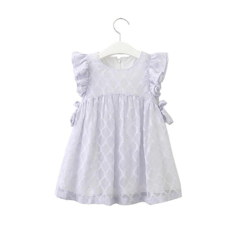 b35860efd Bonito plissado vestido de manga curta idade para 2-8 yrs meninas roupas de  verão