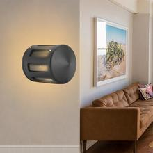 Vintage LED lámpara de pared de aluminio interior exterior resistente al agua para pasillo porche 3W luces de pared blancas cálidas para dormitorio