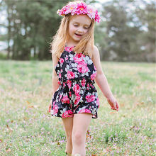 Newborn Baby Girls Floral Print One piece Swimsuit Cotton Jumpsuit Bodysuit Swimwear For Girl Bikinis 2018 New