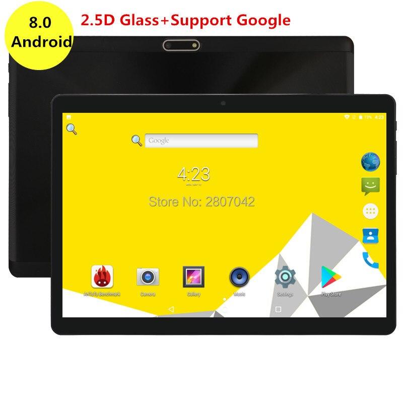 Nouvelle version 10 pouces tablette Octa Core 4 GB RAM 64 GB ROM 3G 4G FDD LTE double cartes SIM 2.5D verre 1280x800 IPS WIFI GPS tablette 10