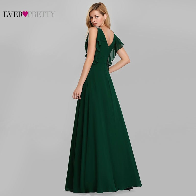 Image 3 - Emerald Green Dresses Ever Pretty EP07891DG Mother Of The Bride Dresses Beaded A Line Sleeveless 2019 Farsali Long Evening Gowns-in Mother of the Bride Dresses from Weddings & Events