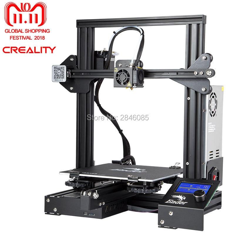 CREALITY 3D Ender-3 di Grande Formato di Stampa 220*220*250mm Prusa 3D Stampante Kit FAI DA TE Riscaldata Letto Riprendere funzione di Spegnimento